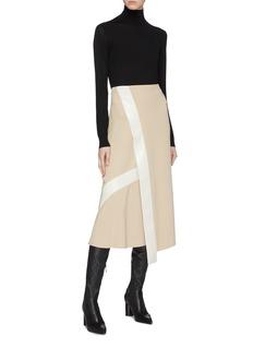 Victoria Beckham Contrast trim skirt