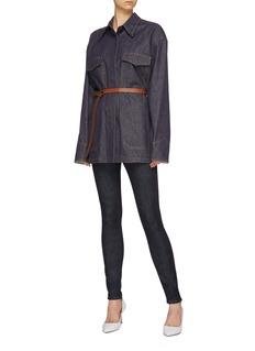 Victoria Beckham Patch pocket denim shirt jacket