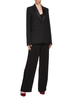 Victoria Beckham Peaked satin lapel virgin wool-mohair blazer