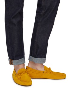 Tod's 'Gommino' tie suede driving shoes