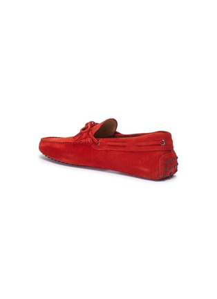 - TOD'S - 'Gommino' tie suede driving shoes