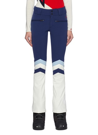 Main View - Click To Enlarge - Perfect Moment - 'Aurora II' quilted chevron stripe flared ski pants