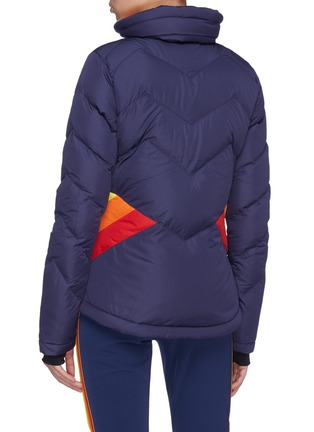 Back View - Click To Enlarge - Perfect Moment - 'Apres' colourblock Airtastic™ ski down puffer jacket