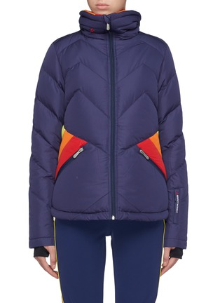 Main View - Click To Enlarge - Perfect Moment - 'Apres' colourblock Airtastic™ ski down puffer jacket