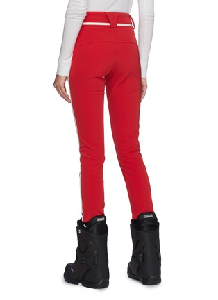 Back View - Click To Enlarge - Perfect Moment - 'Aurora II' stripe outseam skinny ski pants