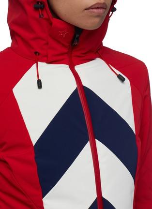 Detail View - Click To Enlarge - Perfect Moment - 'Tignes' detachable hood chevron stripe ski jacket