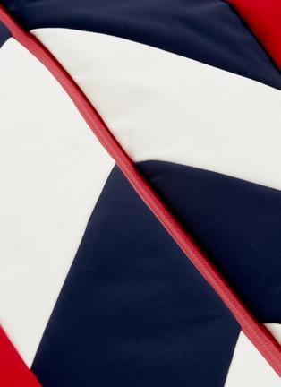 - Perfect Moment - 'Tignes' detachable hood chevron stripe ski jacket