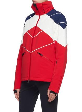 Detail View - Click To Enlarge - Perfect Moment - 'Chamonix' detachable hood colourblock PrimaLoft® ski down jacket