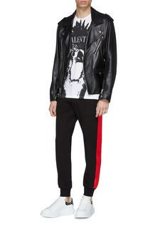 Alexander McQueen Stripe outseam jogging pants