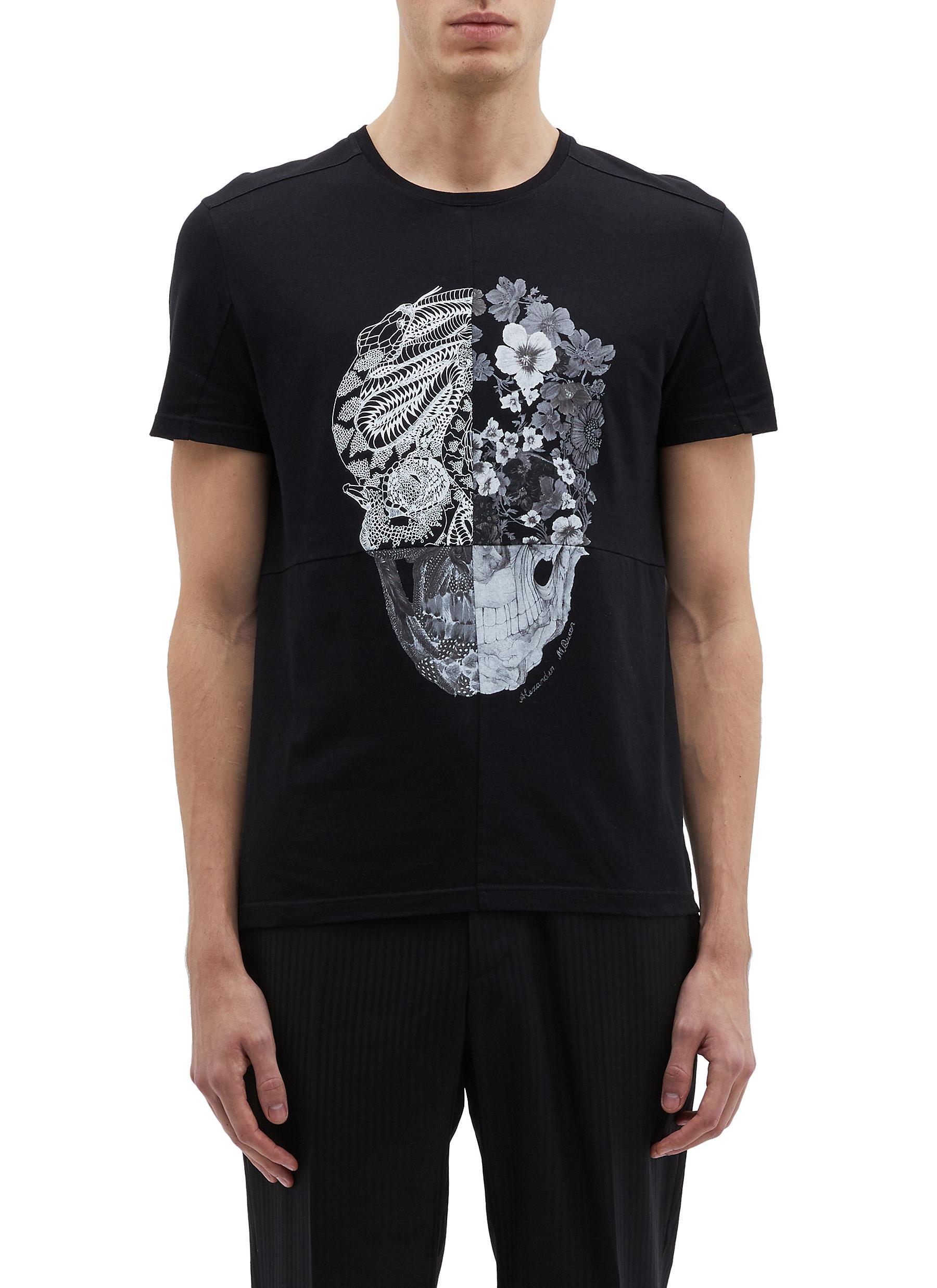 469cbb55c ALEXANDER MCQUEEN | Patchwork skull print T-shirt | Men | Lane Crawford