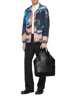 Alexander McQueen Paint stroke print hooded windbreaker jacket