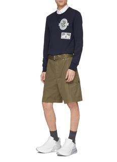 Alexander McQueen Belted twill shorts