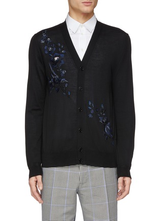 37f2da3d138 Alexander McQueen Floral embroidered wool cardigan