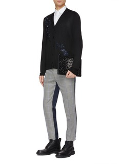 Alexander McQueen Floral embroidered wool cardigan