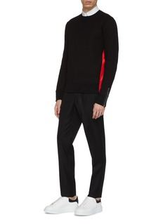 Alexander McQueen Zip cuff stripe outseam sweatshirt