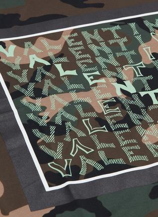 - VALENTINO - Logo camouflage print T-shirt