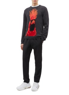 Valentino Animals bird intarsia virgin wool-cashmere sweater