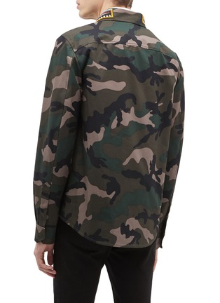 Back View - Click To Enlarge - Valentino - Beaded stripe camouflage print field jacket