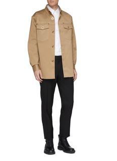 Versace Gabardine military shirt jacket