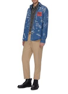 Versace 'Love From Donatella' graffiti print denim shirt jacket