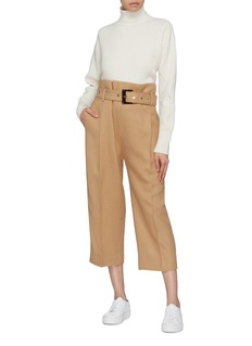 Comme Moi Belted paperbag waist culottes