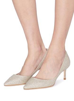 fa6eab0297f Figure View - Click To Enlarge - Jimmy Choo -  Romy 60  glitter pumps