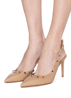Valentino 'Rockstud' slingback leather pumps