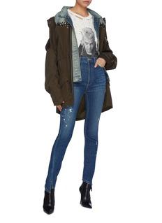 TRE by Natalie Ratabesi 'Beth' paint splatter skinny jeans