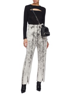 TRE by Natalie Ratabesi 'Fiona' Split cuff bleached jeans