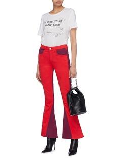 TRE by Natalie Ratabesi 'Cher' Colourblock flared leg jeans