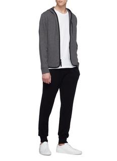 James Perse Contrast border zip hoodie