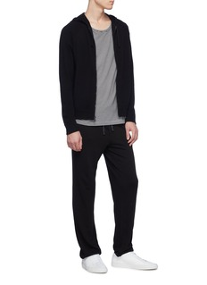 James Perse Baby cashmere knit zip hoodie