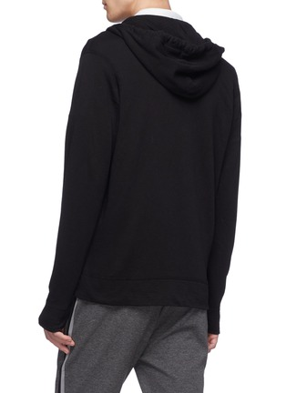 Back View - Click To Enlarge - JAMES PERSE - 'Vintage' Supima® cotton zip hoodie
