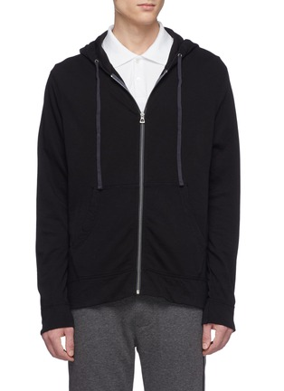 Main View - Click To Enlarge - JAMES PERSE - 'Vintage' Supima® cotton zip hoodie