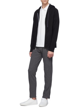 Figure View - Click To Enlarge - JAMES PERSE - 'Vintage' Supima® cotton zip hoodie