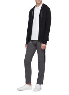 James Perse Zip cuff stripe outseam track pants