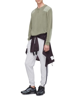 The Upside 'New Track City' zip cuff stripe outseam jogging pants