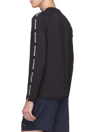 Back View - Click To Enlarge - THE UPSIDE - Logo stripe long sleeve performance top