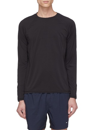 Main View - Click To Enlarge - THE UPSIDE - Logo stripe long sleeve performance top