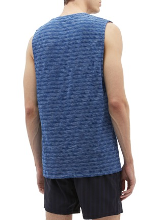 Back View - Click To Enlarge - THE UPSIDE - Abstract jacquard muscle tank top