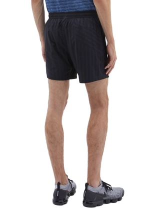 Back View - Click To Enlarge - The Upside - 'Ultra Run NS' stripe ripstop track shorts
