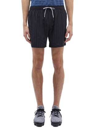 Main View - Click To Enlarge - The Upside - 'Ultra Run NS' stripe ripstop track shorts