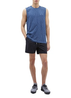 The Upside 'Ultra Run NS' stripe ripstop track shorts