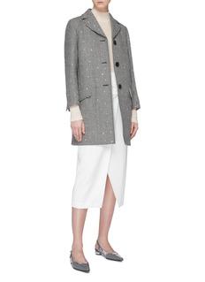 miu miu Strass virgin wool houndstooth coat