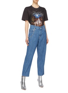 Miu Miu Skater chain boyfriend jeans