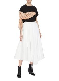 sacai Polka dot print scarf sleeve panel T-shirt