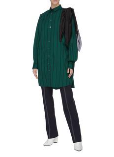 sacai Scarf sleeve panel stripe long shirt