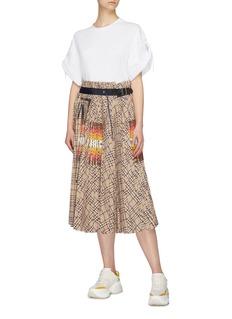 sacai x Pendleton buckled graphic print check plaid pleated skirt
