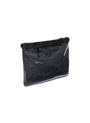 Detail View - Click To Enlarge - Maison Margiela - PVC panel leather pouch