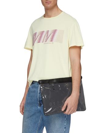 Figure View - Click To Enlarge - Maison Margiela - PVC panel leather pouch